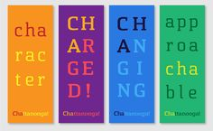 Love these posters using the new Chattanooga typeface.