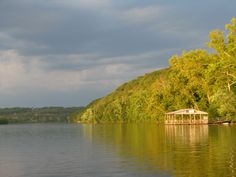 Floating on Lake Taneycomo at sunset just before a storm.