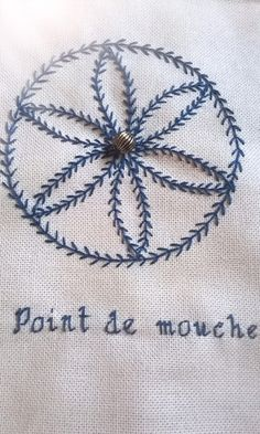 Tast 1 Point de mouche Fly stitch
