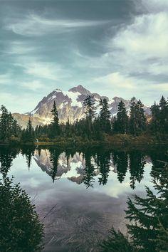 Pristine mountain lake.