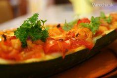 Cukina plnená zeleninou - Recept Zucchini, Vegetables, Food, Essen, Vegetable Recipes, Meals, Yemek, Veggies, Eten