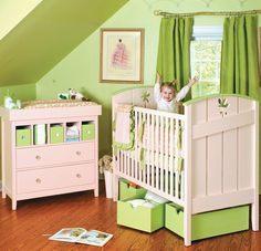 Our children's furniture collection has nothing if not variety. From kids beds to dressers, desks, bookcases and other quality kids furniture pieces. Baby Boy Rooms, Baby Cribs, Baby Room, Cute Furniture, Pink Furniture, Nursery Room, Girl Nursery, Nursery Ideas, Room Ideas
