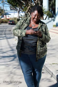 Naturally Curly Kinky: My Plus Size Fashion Style - Camo and Sequin