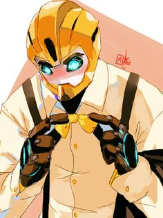 Handsome Bumblebee<<<I think he maybe flustered or embarrassed