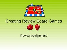 Free! This powerpoint provides the prompts and directions to guide students through creating board games for any class content review. Choice is givent o...