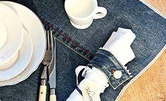 Jeans-Tischset