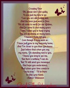 Oh Mom, I miss you so. But, I'm so lost without you here beside me. Nothing has been going right, I miss you and I just want to hug you, xox Missing Loved Ones, Missing My Son, Grief Poems, Funeral Poems, Funeral Cards, Grieving Quotes, Memorial Poems, Memorial Cards, Stand By You