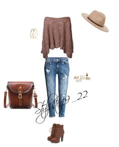 Fall is here by nadine-schokobon-bala on Polyvore featuring polyvore, fashion, style, JustFab, Pieces, Ace of Something and clothing