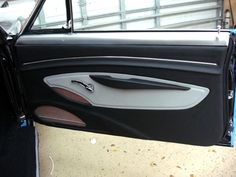 1967 Chevelle SS Custom Restoration Street Rod Interiors door panels black white and red mesh console and seats