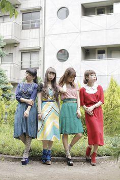 [Street Style] Hitomi Nomura, Kaori, Miyoshi, hito, Kaori Ogawa | Grimoire | Shibuya (Tokyo)
