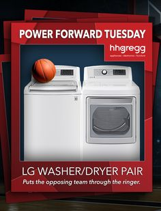 LG Washer/Dryer: Puts The Opposing Team Through The Ringer.