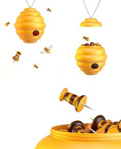 Bees and honeycomb that cheat your eyes
