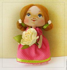 Купить Малышка - розовый, роза, кукла с розой, роза из фоамирана, цветок из…