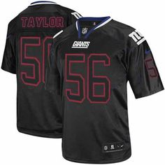 Nike Limited Lawrence Taylor Lights Out Black Men's Jersey - New York Giants #56 NFL