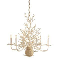 Currey & Company coral chandelier.