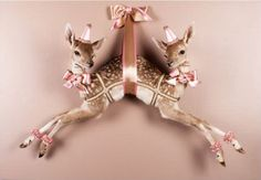 Les Deux Garcons taxidermy fawns
