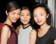Left to right: Feifei Sun, Liu Wen and Xiaowen Ju #feifeisun #liuwen