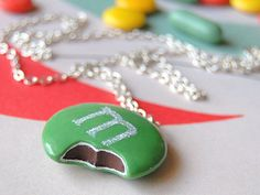 by Silli Chic M & M necklace pendant from polymer clay