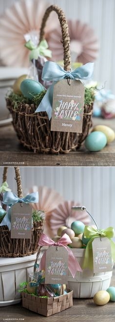#FreePrintable #DIYEaster #EasterTags #EasterBags at www.LiaGriffith.com