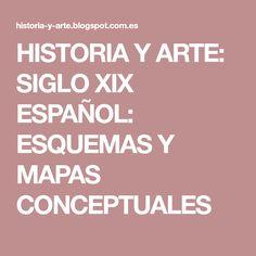 HISTORIA Y ARTE: SIGLO XIX ESPAÑOL: ESQUEMAS Y MAPAS CONCEPTUALES
