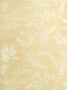 Stroheim Wallpaper 0659101 Wildflowers Jute Almond On Flax