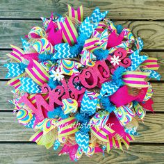 Spring/Summer wreath available for purchase from Wreaths to Adoor. Follow us on Facebook and Instagram!