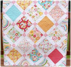 Baby Girl Quilt Simply Sweet Via Etsy (superb Baby Girl Quilt Pattern #4)