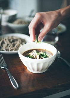 Balsamic vegetable noodle soup.