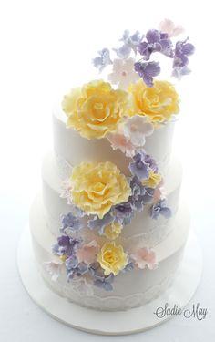 Sadie May Cakes Wedding Cake  beautiful pastel wedding