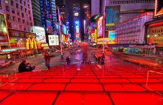 Red Stairs on Time Square