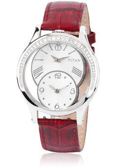Purple 9923Sl01 Brown/White Analog Watch Price: Rs 6495