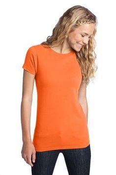 District - Juniors The Concert Tee Style DT5001 #tshirt #tee #juniors #basics #layers #crew #orange