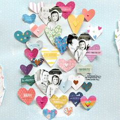 Here is the second layout I taught how to make at Crop & Create in Winnipeg featuring paper hearts made with Whimsical ! First I whit. Friend Birthday Gifts, Diy Birthday, Best Friend Gifts, Album Scrapbook, Scrapbook Journal, Project Life, Scrapbook For Best Friend, Movie Basket Gift, Diy Christmas Gifts For Friends