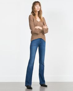 jeans are a nice fit-not skin tight like today's trend!