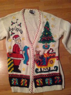 Tacky Christmas Sweater. $20.00, via Etsy. I LOVE this one. Wish it were bigger!