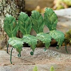 Miniature Dollhouse FAIRY GARDEN ~ Tiny Leaf Bench – Green ~ NEW in Home & Garden, Home Décor, Figurines | eBay