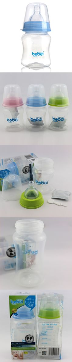 Bobei Elephant Baby Feeding Bottle PP Plastic Breast Feeding Anti Flatulence Leak Proof Portable 240 Ml