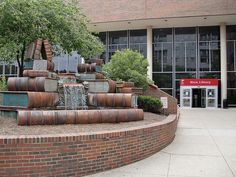 Book Fountain Sculpture at the Main Branch of the Public Library of Cincinnati and Hamilton County