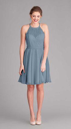 Kennedy Blue Bridesmaid Dress Sienna in Slate Blue