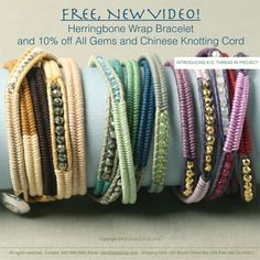 Herringbone Wrap Bracelets - links to video to make these bracelets.