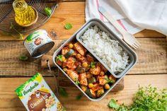 Cukinia w pomidorach z kurczakiem i ryżem - Warzywne Inspiracje : Warzywne Inspiracje Bento, Bento Box