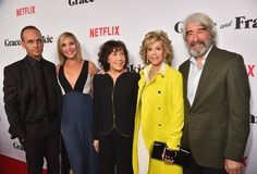 """The cast and crew of the Netflix original series """"Grace and Frankie."""""""