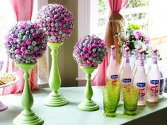 How to Make a Lollipop Topiary Centerpiece:  From DIYNetwork.com from DIYnetwork.com