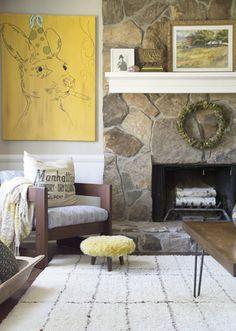 Rustic Mid-Century Living Room Makeover || Hearts & Sharts
