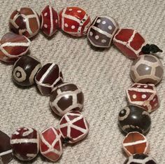 Etched Carnelian and Agate Necklace