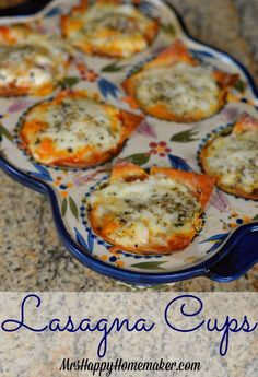 Lasagna Cups - sooo much easier than making traditional lasagna, and it's so delicious! Handheld lasagna, love it! Italian Dishes, Italian Recipes, New Recipes, Favorite Recipes, Healthy Recipes, Recipies, Wonton Recipes, Pasta Recipes, Cooking Recipes