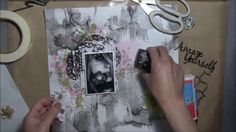 ''Amaze Yourself'' - Mixed Media Layout Tutorial for 2Crafty Chipboard