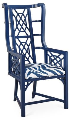 Cobalt Kings Grant Arm Chair
