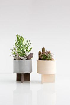 Archromo Stoneware Cactus Planter by lightandladder on Etsy