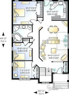 3 bedroom bungalow floor plans – bodylinegraphics 3 Bedroom Bungalow, Bungalow Homes, Bungalow House Design, Four Bedroom House Plans, 3 Bedroom Floor Plan, Bungalow Floor Plans, Open Floor House Plans, Simple Floor Plans, Simple House Plans